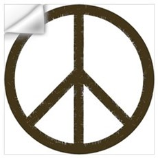 Cool Vintage Peace Sign Wall Decal