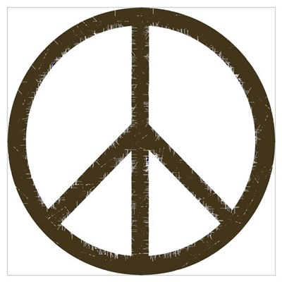 Cool Vintage Peace Sign Poster