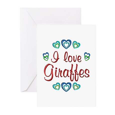 I Love Giraffes Greeting Cards (Pk of 20)