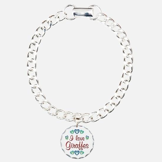 I Love Giraffes Bracelet