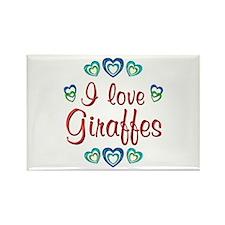 I Love Giraffes Rectangle Magnet (10 pack)