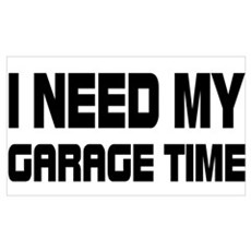 GARAGE TIME Framed Print