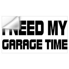 GARAGE TIME Wall Decal