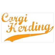 Corgi Herding Poster