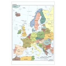 Europe Map Canvas Art