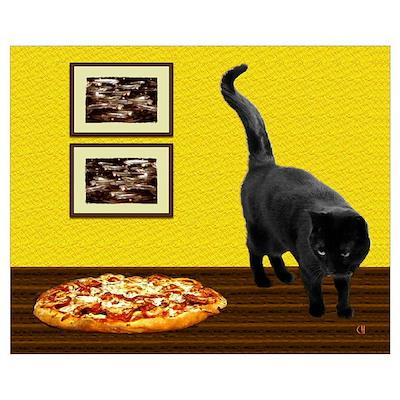 Pizza Cat Poster
