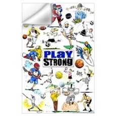 Play Strong Montage Wall Decal