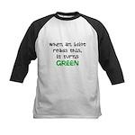 Idiot Green Kids Baseball Jersey