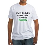 Idiot Green Fitted T-Shirt