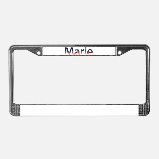 Marie Stars and Stripes License Plate Frame