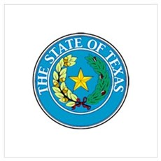 """Texas State Seal"" Canvas Art"