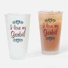 Love My Gerbil Drinking Glass