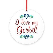Love My Gerbil Ornament (Round)