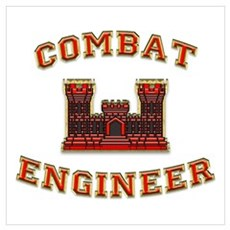US Army Combat Engineer Castl Poster