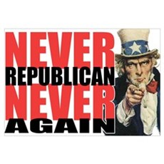 Never Republican. Never Again Canvas Art