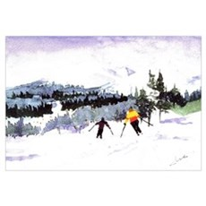 Snow Skiing Framed Print