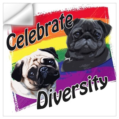Celebrate Diversity Rainbow P Wall Decal