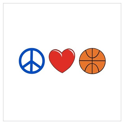 Peace, love, basketball Poster
