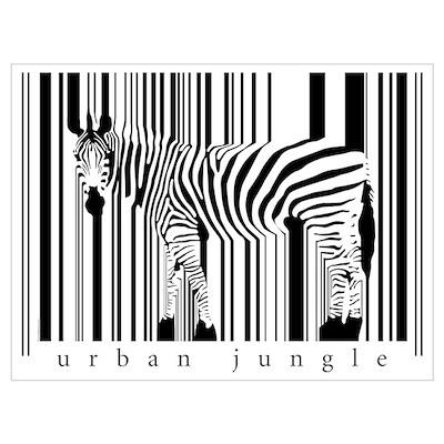 BarCode Zebra 01 Poster