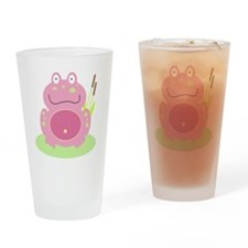 Fiona the pink Frog Drinking Glass