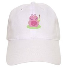 Fiona the pink Frog Baseball Cap