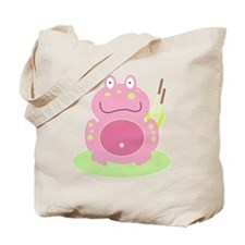 Fiona the pink Frog Tote Bag
