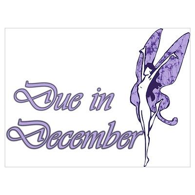 Due December Purple W Fairy Poster