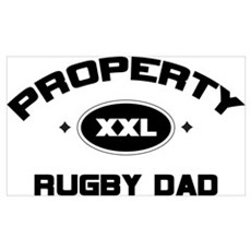 Property of Rugby Dad Poster