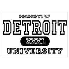 Detroit University Framed Print