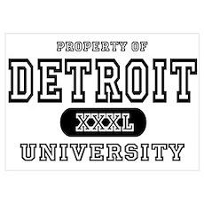 Detroit University Poster