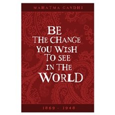 Gandhi - Red Paisley - Be The Framed Print