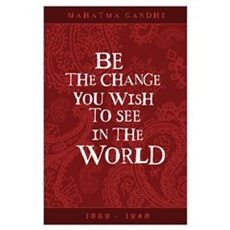 Gandhi - Red Paisley - Be The Poster