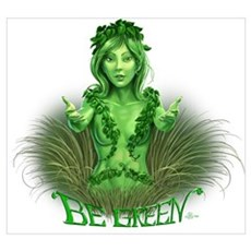 be green simple Poster