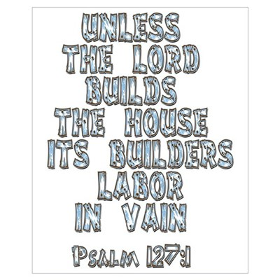 Psalm 127:1 Canvas Art