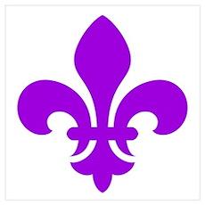 Purple Fleur-de-Lys Poster