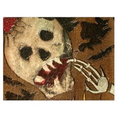 Curius Skull Poster