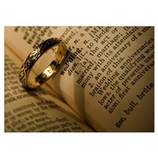 Wedding Ring Heart Poster