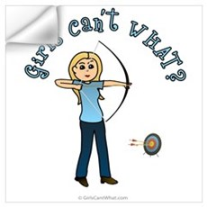 Blonde Blue Archery Wall Decal