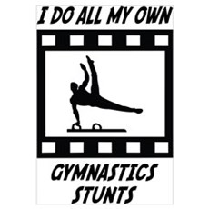 Gymnastics Stunts Framed Print