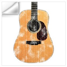 Acoustic Guitar (worn look) Wall Decal