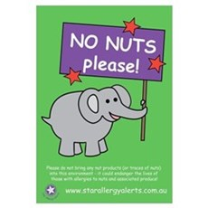 NO NUTS Please! Framed Print