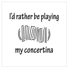 Playing My Concertina Poster