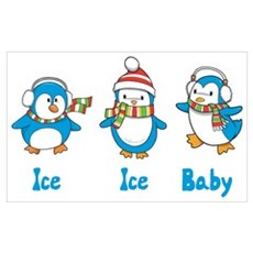 Ice Ice Baby Penguins Poster