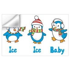 Ice Ice Baby Penguins Wall Decal