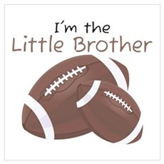 Football Little Brother Poster