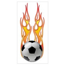Soccer fire Poster