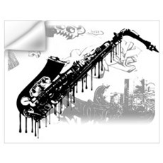Sax Graffiti Wall Decal