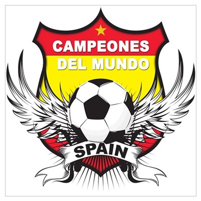 Spain World cup champions Framed Print
