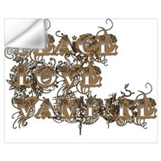 Peace Love Vampire Wall Decal