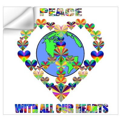 With All Our Hearts Wall Decal
